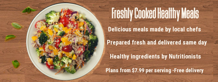 Healthy meals delivered home freshly prepared by local chefs
